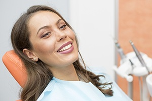 Castle Shannon Restorative Dentistry Smiling woman in dental chair