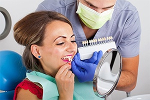 woman getting veneers in Castle Shannon