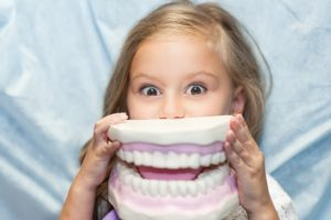Young girl benefiting from children's dentistry