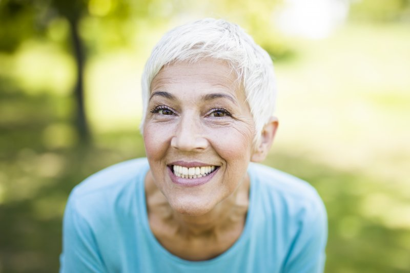 elderly woman with nice smile